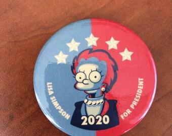 Lisa Simpson for President Button / Pin