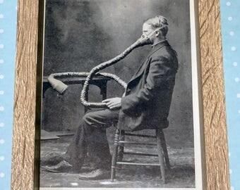 The Masked Man -Vintage Medical Print In Frame