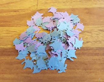 Cat Confetti in Blue and Purple - Table Scatter - Party Decoration