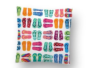 Beach Flip Flops Pillow Cover FREE SHIPPING