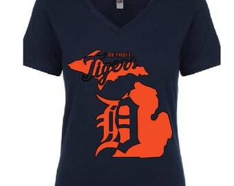 Detroit Tigers v-neck tee