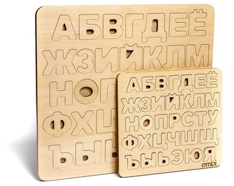Russian Alphabet Mini/Wood Alphabet/Developing toy/Toys for children/  Learning to count Learning to read