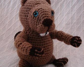 Bob the Beaver Amigurumi Toy ** FREE SHIPPING **