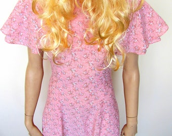 Pink boho/gypsy style maxi dress from the 1970's