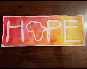 HOPE Watercolor 4ishx8ish A3
