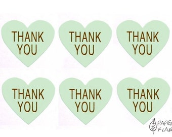 20 stickers heart Thank you (AP-44)