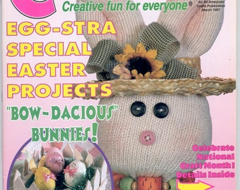 CRAFTWORKS magazine - March, 1997 'Easter Issue'
