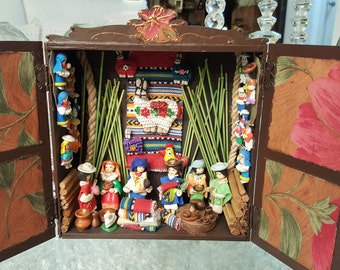 The mountains of Ecuador Wood box decoration
