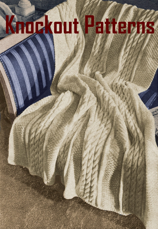 Pdf 40s aran blanket knitting patterns aran blanket patterns this is a digital file bankloansurffo Choice Image