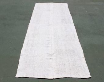 turkish white goat hair vintage rug,8'9''x3'5'',old vintage rug kilim,free ship,antique traditional rug,handmade good condition rug kilim