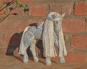 Handmade horse,Rag horse, Toy, Gift, Decorative horse, Little Chield  toys,  Home Decoration, Textile horse, Horse