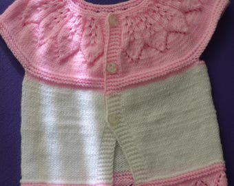 Baby Girl Cardigan, Girls Cardigan, Girls Sweater, 3-9 Months, Soft Cardigan