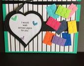 Lego Card, card for friend, funny card, humor card, handmade card, not your mama's card, love card, romantic card