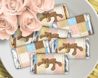 Bear Necessities - Baby Shower or Birthday Printable Hershey Mini Wrappers - Instant Download