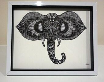 Elephant Print by Natasa -V2