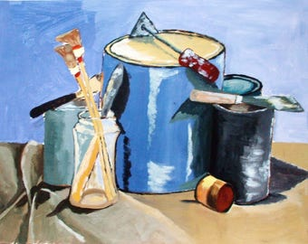 Painting 'Still life with paint pots'