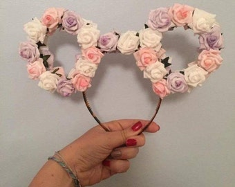 Pastel Rose Mouse Ears