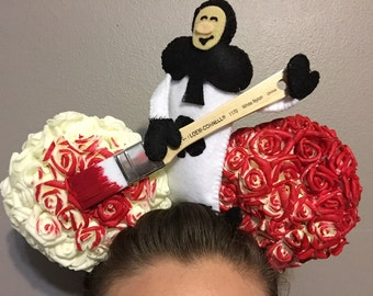 Painting the Roses Red Disney Ears
