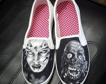 Mens Limited Custom Handmade Waterproof Painted mens shoes
