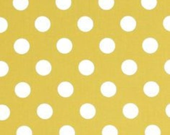Polka dot fabric -Michael Miller quarter dot- dot fabric-yellow polka dot fabric-Michael Miller fabric- yellow dot fabric-quilting cotton