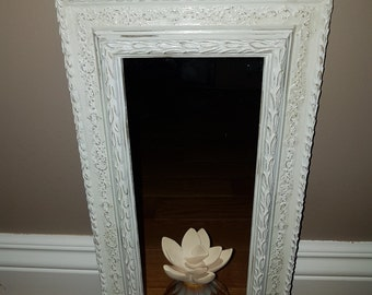 White Chalk Distressed Mirror finished with Gloss