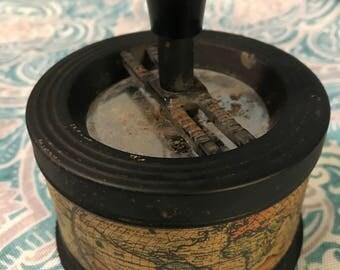 Vintage Push Down Tin Spinning Ashtray