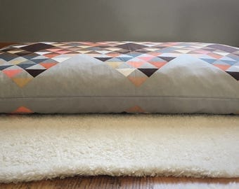 Geometric Print Pillow: body pillow, headboard pillow, pet pillow, backseat pillow