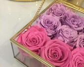 18 Eternity Roses For Caren