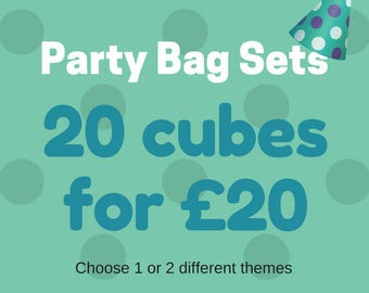 Party Bag Fillers - Storytelling - Gift for Kids - Wooden Blocks - Imagination - Reading - Party Favours - Journey Game - Story Stones