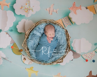 2 JPEG Sky collection digital Newborn Backdrop/Background Prop