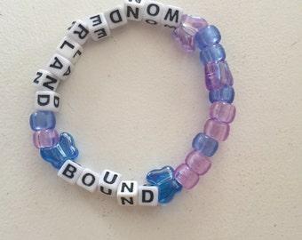 Wonderland bound kandi bracelet