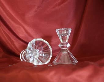 Lead Crystal Candle Holders Towle of Austria