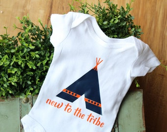New to the tribe, hospital outfit, going home outfit, new baby gift, baby shower gift, unisex bodysuit, birth announcement, newborn outfit