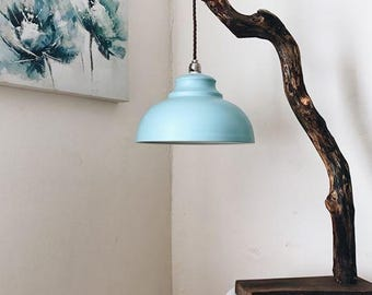 Natural branch lamp stand
