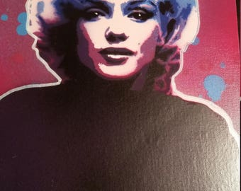 Marilyn Monroe spray paint stencil Art