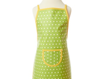 washable apron, green children's apron