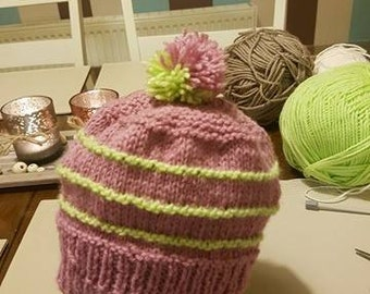 3-6 months Baby Hand Knitted Hat