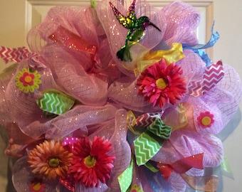 Pink decomesh Wreaths