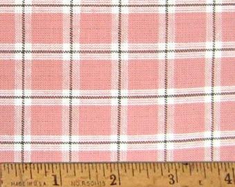 "Petal Pink 6 Homespun Cotton Fabric (Full Yard 36"" x 44"")"