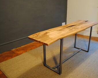 Live edge olive wood bench
