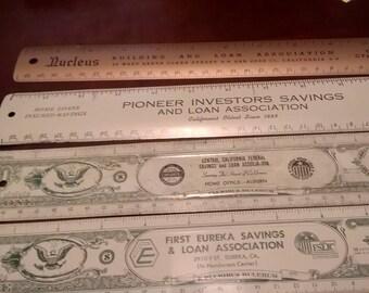 4 Aluminum Rulers from California Banks