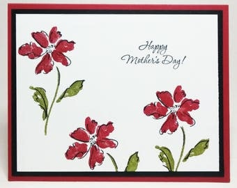 Mother's Day Card, Handmade Card, Stampin Up Card, Card For Mom, Happy Mother's Day Card, Greeting Card