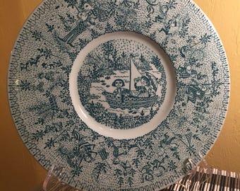 Bjørn Wiinblad Nymølle Denmark 'Family in a Sailboat' Plate