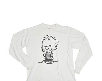 Vintage Calvin and Hobbes LS Shirt 1990's