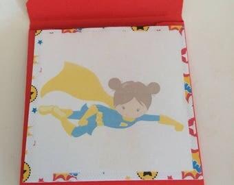 Handmade Notepad, Super Hero Notepad, Memo Pad, Super Hero Memo Pad, Handmade Memo Pad