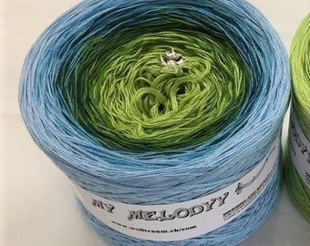Heaven - Ready To Ship Yarn - Green Cotton Yarn - Blue Cotton Yarn - Gradient Yarn - Crochet Yarn - Knitting Yarn - Wolltraum Yarn -Gradient