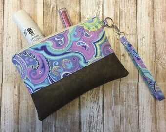 Smooth and Sophisticated Pastel Wristlet Clutch