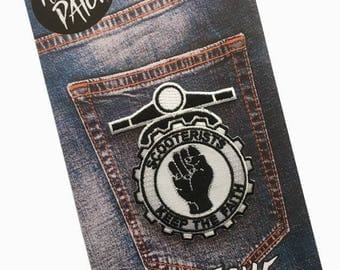 Scooterists Keep The Faith Embroidered Iron On Patch