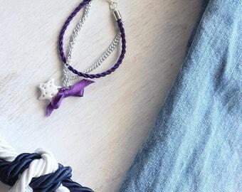 Purple rope starfish bracelet