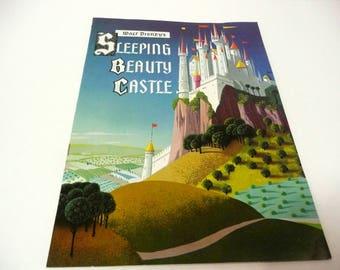 Vintage Disneyland Sleeping Beauty's Castle Booklet 1957 Color Illus Walt Disney Cartoon Film Fairy Tale History Theme Parks